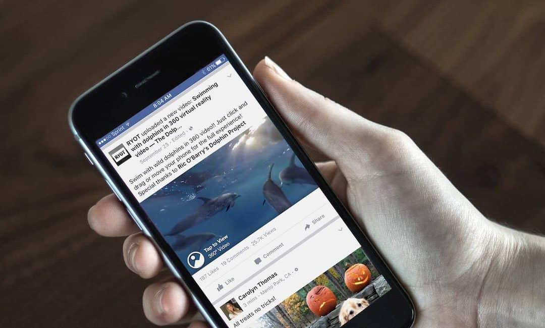 360 gradenfoto's op Facebook