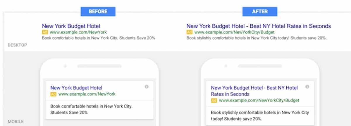 Google Extended Text Ad