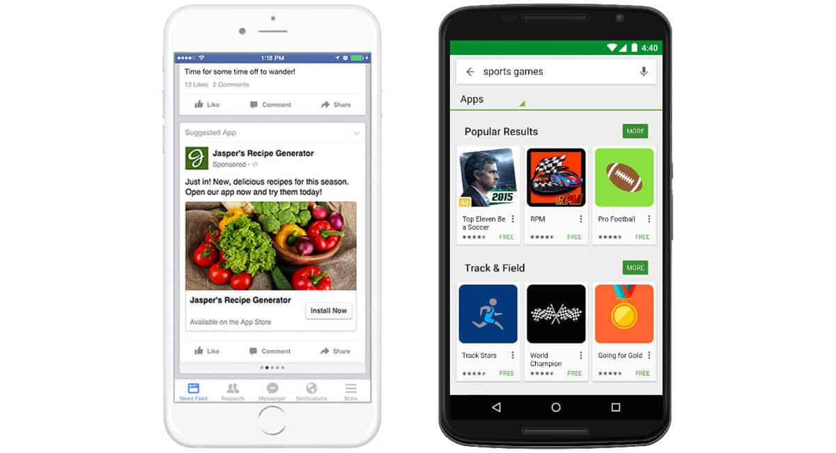Google play Store Facebook app