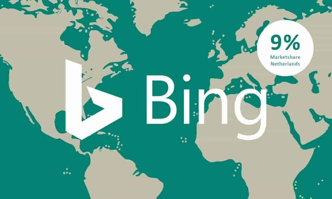 Marktaandeel Bing stijgt naar 9%
