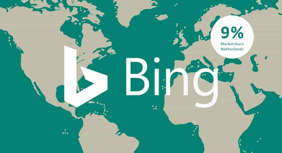 Marktaandeel Bing Nederland