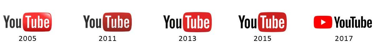 YouTube logo's
