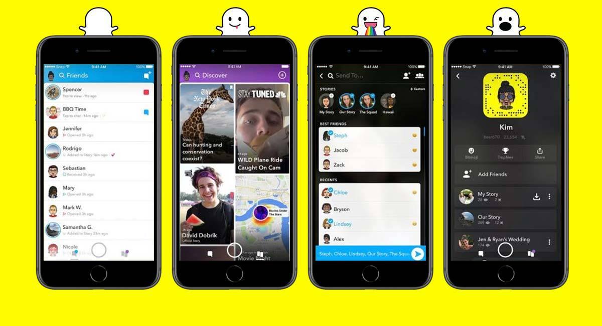 Nieuw Snapchat design