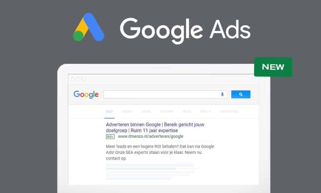 Uitbreiding Google tekstadvertenties