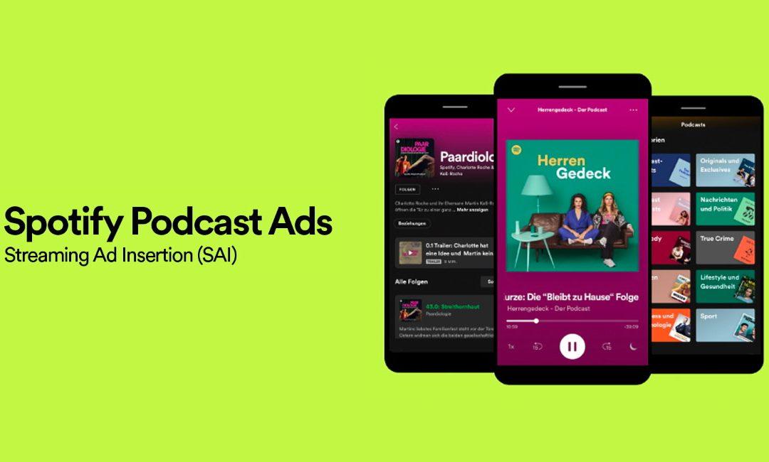 Spotify start met uitrol van Podcast Ads